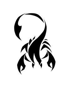 Small Black Scorpio Tattoo Design