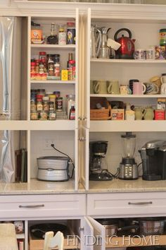 clever storage cabinets in a kitchen renovation