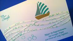 Baby- & Geburtskarten - Süße Karte zur Taufe - ein Designerstück von kreativesherzerl bei DaWanda