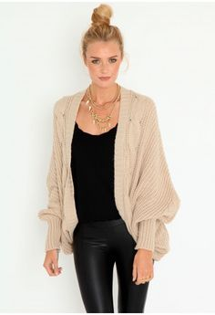 Danny Batwing Cardigan and a bun! Perfect!