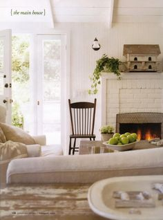 Farm House - I really like this type of clean but somewhat worn and casual look.