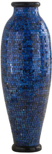 Home Decorators Collection | PoliVaz DVMOSLLMBLU Ocean Blue Mosaic Floor Vase *** Check out this great product. Note:It is Affiliate Link to Amazon.