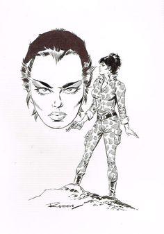 Romero, Enrique Badia - Originele cover - Modesty (Miranda) Blaise - (1996) - W.B.