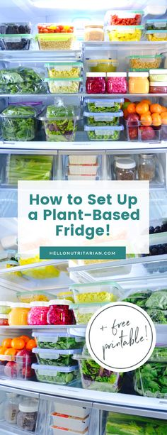 Learn how to set up an Eat to Live Fridge with Hello Nutritarian! These are my fridge organization tips, plus all my favorite glass food storage containers to get your fridge to be a tool in your healthy lifestyle! I made this refrigerator guide Healthy Diet Tips, Healthy Lifestyle, Healthy Eating, Healthy Recipes, Eating Vegan, Healthy Desserts, Healthy Food, Glass Food Storage, Food Storage Containers