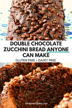 New to gluten free baking? This chocolate zucchini bread is easy to make and so delicious! It's rich and chocolatey, with a great texture. #glutenfree #chocolate #zucchini #bread Gluten Free Chocolate, Delicious Chocolate, Vegetarian Chocolate, Chocolate Recipes, Vegan Desserts, Delicious Desserts, Dessert Recipes, Gluten Free Cakes, Gluten Free Baking