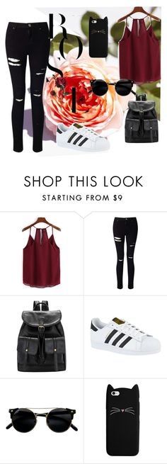 """""""Set23"""" by comicdina ❤ liked on Polyvore featuring Miss Selfridge and adidas"""