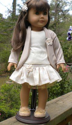 Cardigan Ensemble for American Girl dolls by mydollyscloset1 via Etsy  $32.00