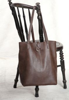 leather tote bag brown by dorela.com