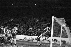 The epic FA cup 3rd round battle between Sheffield Wednesday and Arsenal in 1979, with Dave Rushbury unable to stop Arsenal's Alan Sunderland scoring in the first match at Hillsborough.
