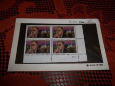 3134 Block of Four 32 cent Thornton Wilder Stamps