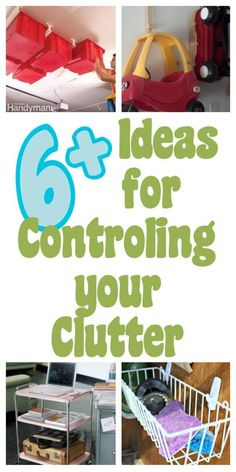 diy home sweet home: Control You Clutter.....hang bins from ceiling not just for in garage if u have a small house! ML