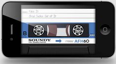AirCassette App for iPhone... Get ready to make and send a mixed tape!