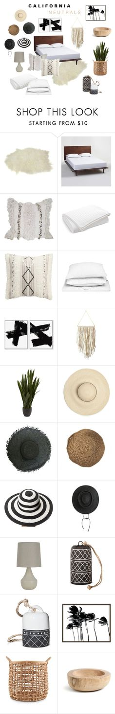 """""""California Neutrals"""" by theabstractlife ❤ liked on Polyvore featuring interior, interiors, interior design, home, home decor, interior decorating, Cost Plus World Market, Lauren Ralph Lauren, cupcakes and cashmere and San Diego Hat Co."""