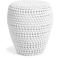 White Tapered Bubbled Side Table ($236) ❤ liked on Polyvore featuring home, furniture, tables, accent tables, white furniture, iron end table, white table, modern table and white chairside table