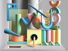 Showcase and discover creative work on the world& leading online platform for creative industries. Abstract Shapes, Geometric Shapes, 3d Cinema, 3d Artwork, Creative Industries, Abstract Sculpture, 3d Design, Graphic Design, Digital Illustration