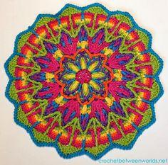 Crochet between worlds: Ta-dah! Overlay Crochet Mandala No.1!