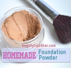 Homemade face powder foundation - making your own allows you to control the ingredients in the powder, so you can make sure that no harsh chemicals end up in your foundation.