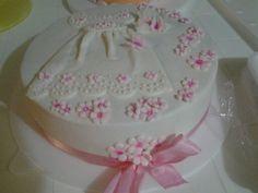 Torta de bautizo para niña