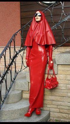"brutallysadistic: "" Keep your slave in latex even when she must go in public. This reinforces the notion that she must always be thinking of your pleasure. Fetish Fashion, Latex Fashion, Sexy Outfits, Pretty Outfits, Mode Latex, Rubber Dress, Hobble Skirt, Vinyl Dress, Latex Costumes"
