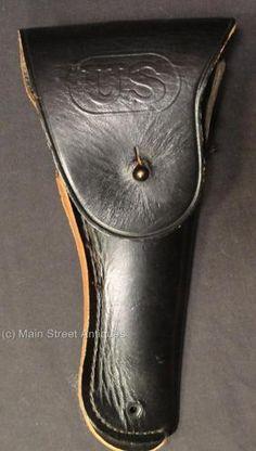 Vintage Vietnam US Bucheimer 7791466 Black Leather Gun Holster - Exc cond