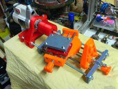 adjustable lathe by - Thingiverse 3d Printer Designs, 3d Printer Projects, Cnc Projects, Design Files, 3d Design, Diy 3d Drucker, 3d Printing Business, 3d Printer Filament, 3d Cnc