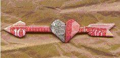 Ornament - Money Origami Arrow Heart