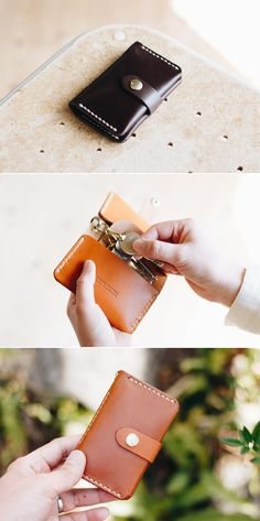leather keycase | Duram Factory Leather Key Case, Leather Wallet, Key Bag, Key Wallet, Leather Crafts, Handmade Leather, Sewing Ideas, Diy And Crafts, Wallets