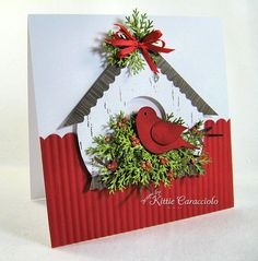 Christmas Birdhouse by kittie747 - Cards and Paper Crafts at Splitcoaststampers
