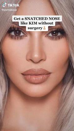 Face Contouring Makeup, Nose Makeup, Skin Makeup, Face Contouring Tutorial, Contour Eyes, Makeup Tips For Small Eyes, Baddie Makeup, Makeup Makeover, Makeup Techniques