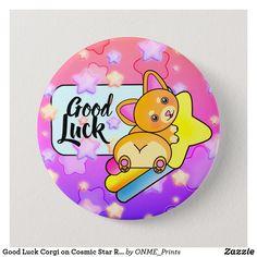 Good Luck Corgi on Cosmic Star Rainbow Button  #Onmeprints #Zazzle #Zazzlemade #Zazzlestore #Zazzlestyle #Good #Luck #Corgi #Cosmic #Star #Rainbow #Button Good Luck, Custom Buttons, School Fun, Diy Face Mask, Dog Design, Cute Designs, Cosmic, Kids Shop, Rainbow