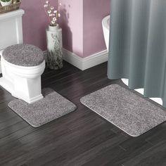 Kober 3 Piece Solid Bath Mat Set