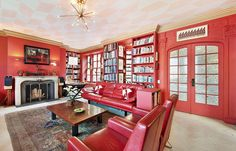 Luxury room in red