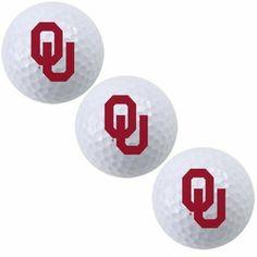 OU Sooners Nike Three-Pack Golf Balls