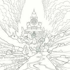 Legendary Worlds Adult Colouring Book Quartz Palace By Witek