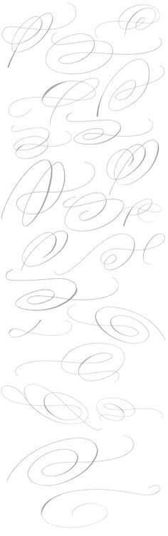 Giuseppe Salerno Copperlove swashes - #calligraphy #fonts #ornaments