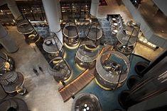 Lobby at 5 star hotel: Pan Pacific Singapore Hotel. This hotel's address is: 7 Raffles Boulevard, Marina Square Marina Bay Singapore 039595 and have 790 rooms Lobby Lounge, Hotel Lobby, Lobby Bar, Commercial Interior Design, Commercial Interiors, Hotel Interiors, Rustic Interiors, Marina Bay, Resorts