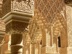 The Alhambra, Granada, Spain -- the Moorish architecture there is absolutely breathtaking!