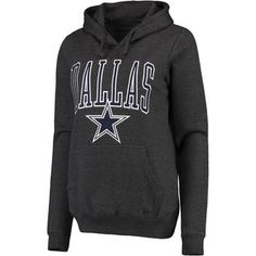 Women's Dallas Cowboys Charcoal Gooding Pullover Hoodie