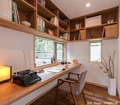 Home Office Layouts, Home Office Space, Home Room Design, Interior Design Kitchen, Interior Exterior, Interior Architecture, Minimal House Design, H Design, Workspace Inspiration