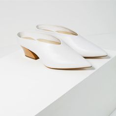 Image 3 of LEATHER MULE SHOES from Zara