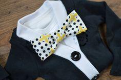 baby shower gift Little Boy's Cardigan Only Black/ White  Cardigan by IzzyandIsla
