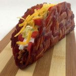 The Bacon Weave Taco-- how good does this look?? OH MY GOSH!!!!! (didnt say good FOR you- but probably the best tasting thing EVER)