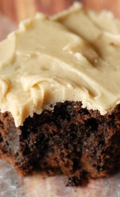 Spicy Caramel Frosted Chocolate Brownies