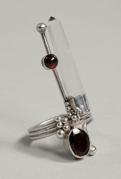 crystal point and garnet ring