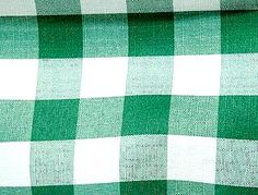 Green Check Print -  Check out this country style check linen from Tablecloths for Granted. If you would like to see this in person, stop by 510 Union St., Schenectady, NY 12305.