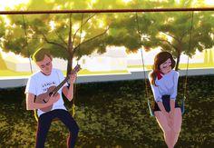 Fan art of a love song/non love song