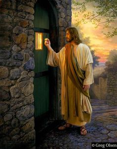 Our kind and gentle Savior would never force His way into your heart...He's knocking at the door and wants you to invite Him in <3