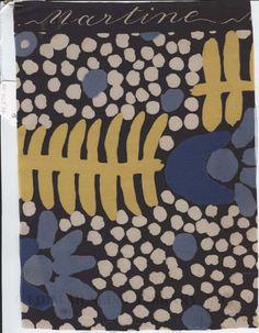 Atelier Martine Textile Swatch by Poiret, Paul  #floral