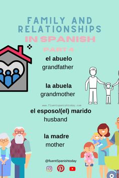 Learn fluent Spanish today - Learn fluent Spanish today - #spanishgrammar #aprendiendoespañol #languages #learnspanish #spanishlessons #spanishvocabulary #easyspanish #spanishforbeginners #spanishphrases #spanish #spanishforkids #learningspanish #spanishvocabulary #spanishphrases #spanishquotes #elsalvador #centralamerica #eltunco #elzonte #travelcentralamerica Spanish Vocabulary, Bebe Baby, Spanish Language, Family Guy, Relationship, Father, Sisters, Photo And Video, Learning