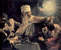 Rembrandt, Belshazzar's Feast , 1635 66 x in. Rembrandt van Rijn was the greatest master of the Dutch Golden Age, an. Caravaggio, Renoir, Rembrandt Paintings, Rembrandt Art, Art Occidental, National Gallery, Dutch Golden Age, Biblical Art, Biblical Hebrew